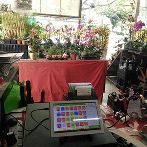 Our POS software installed at florist shop