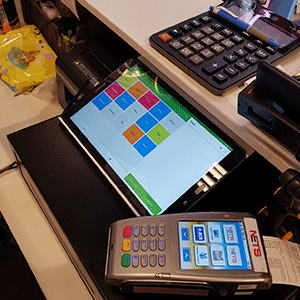 Our POS software installed at a retail store