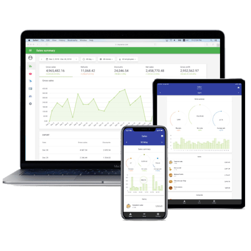 An image of POS software with analytics