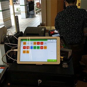 Our POS software installed at a hair salon