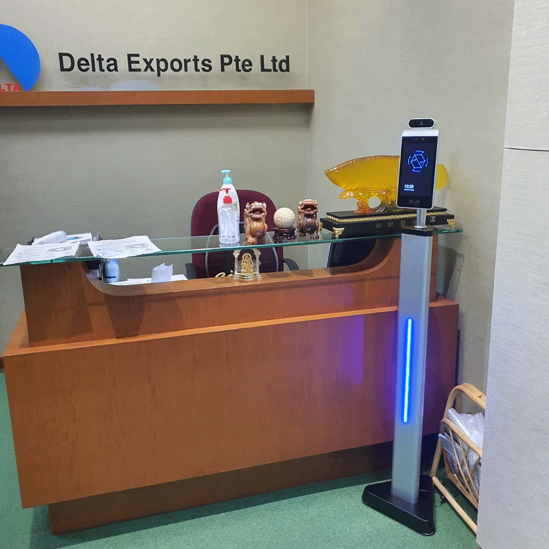 Simplus_Face_Recognition_Temperature_Scanner_Installed_For_Delta_Exports_Singapore